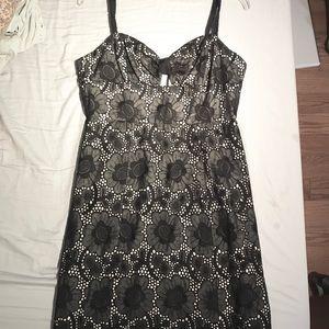 Milly of New York Dresses - MILLY dark navy eyelet dress m, NWOT